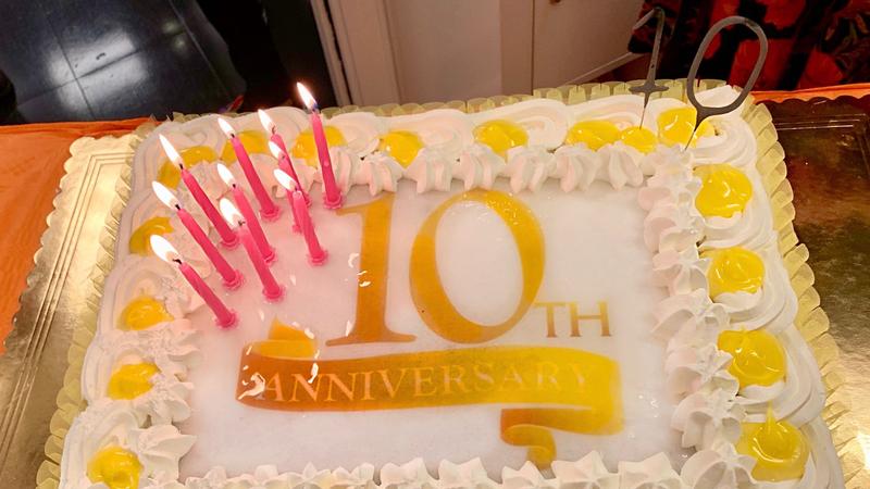 La torta del decimo anniversario RGA