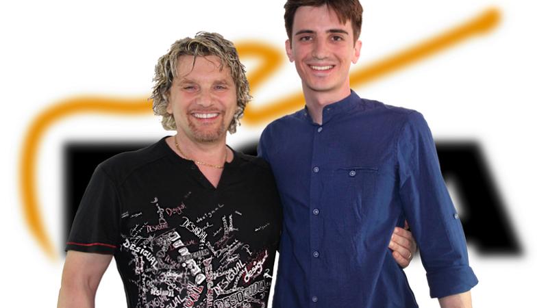 Gabriele Carli con il suo Maestro Donato Begotti