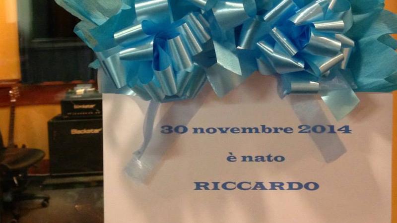 30 novembre 2014. E' nato Riccardo il bimbo del 'Potente' Roberto Fazari